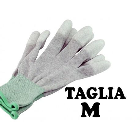 GUANTI ANTISTATICI ESD FIBRA DI CARBONIO TAGLIA M