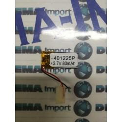 BATTERIA 80 mAh al polimeri di litio a celle 3,7 volt per varie mAh droni modellismo