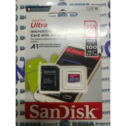 SANDISK MICRO SD ULTRA PLUS SPEED UP TO 100 MB/S 667X 256 MB NUOVO