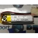 BATTERIE al polimeri di litio a celle 3,7 volt per160 mAh droni modellismo arduino