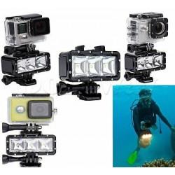 flash vaterproof video light gopro ,action camera sj accessori 30 m x300 lumen