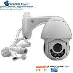 TELECAMERA PTZ 1080P FULL HD ESTERNA IP DOME MOTORIZZATA IR WIFI WEBCAM