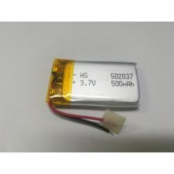 batteria a litio di polimeri 3.7 v per dispositivi elettronici arduino 500mh
