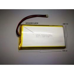 BATTERIA LiPo polimeri Li-Ion Batteria Cella per GPS MP3 3.7 v 10.000 mha