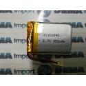 BATTERIA LiPo polimeri Li-Ion Batteria Cella per GPS MP3 3.7 v 300 mha