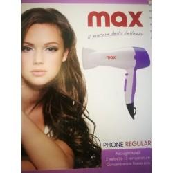 PHON ASCIUGA CAPELLI MAX SILVER PROFEX CONCENTRATORE1400W MAX HAIR DRYER HOT FONO