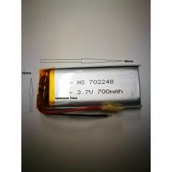 BATTERIE al polimeri di litio a celle 3,7 volt per 700 mAh droni modellismo