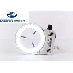 microscopio ricambio Anello regolabile 52 LED luce bianca, illuminatore regolabile