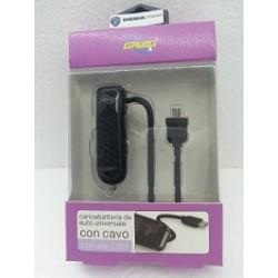 CARICABATTERIA X AUTO CON CAVO E SLOT USB MODEL:DW 247X S3-4-5