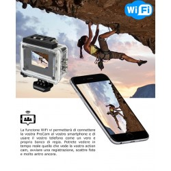 ACTION SPORTS CAM VIDEOCAMERA HD 1080 WIFI CON TELECOMANDO GO pro waterproof sub