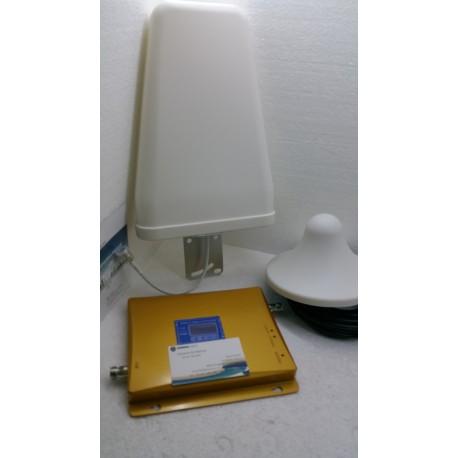 KIT AMPLIFICATORE RIPETITORE SEGNALE GSM UMTS 3G ANTENNA COMP.TUTTI I GESTORI TEL