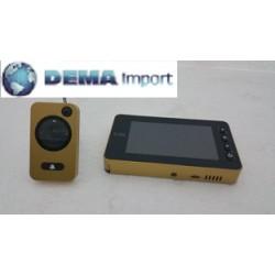 """VI.TEL Spioncino digitale elettronico porta telecamera video LCD 4,3""""mod.393 oro"""