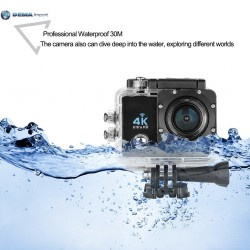 ACTION CAMERA 4K ULTRA HD PRO CAM WiFi WIRELESS SPORT GO VIDEOCAMERA SUBACQUEA