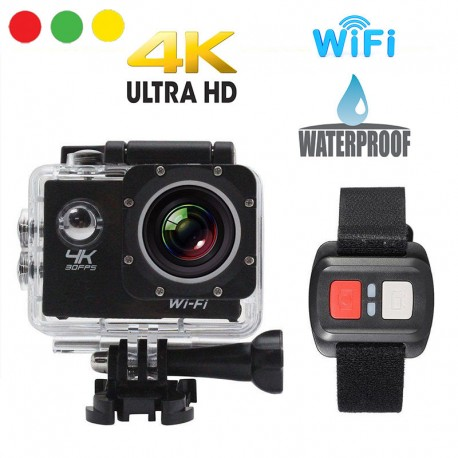 action camera ultra 4 k wifi telecomando a bracciale
