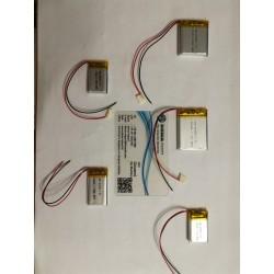 BATTERIE al polimeri di litio a celle 3,7 volt per varie mAh droni modellismo